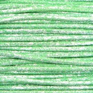 Kordel aus Wachs metallic 0.5mm Parrot green