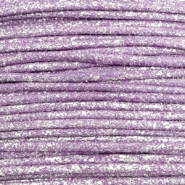 Kordel aus Wachs metallic 0.5mm Lavender purple