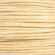 Kordel aus Wachs metallic 1.0mm Yellow beige