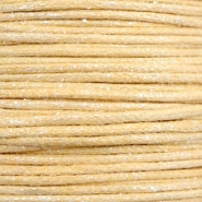 Kordel aus Wachs metallic 0.5mm Yellow beige