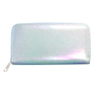 Super hippe Geldbörsen holographic Metallic light blue
