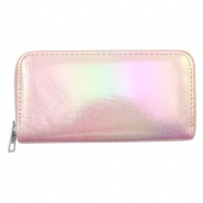 Super hippe Geldbörsen holographic Metallic light pink