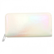 Super hippe Geldbörsen holographic Metallic rainbow-off white