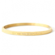 "Stainless Steel - Rostfreiem Stahl Armbänder ""YOU ARE ONE IN A MILLION"" Gold"