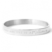"Stainless Steel - Rostfreiem Stahl Armbänder ""YOU ARE ONE IN A MILLION"" Silber"