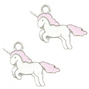 Anhänger Metall Basic quality Unicorn Silver-light pink