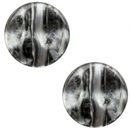 12 mm flach Polaris Elements Cabochon Perseo Black silver