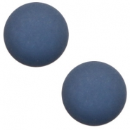 12 mm classic Polaris Elements Cabochon matt Radiant blue