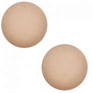 12 mm classic Polaris Elements Cabochon matt Taupe brown