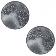 12 mm flach Polaris Elements Cabochon Stardust Gallant grey