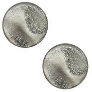 12 mm flach Polaris Elements Cabochon Stardust Warm grey