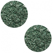 12 mm flach Polaris Elements Cabochon Goldstein Dark classic green