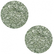 12 mm flach Polaris Elements Cabochon Goldstein Chinois green grey