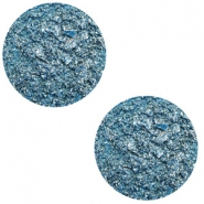 12 mm flach Polaris Elements Cabochon Goldstein Harbour blue