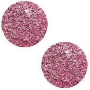 12 mm flach Polaris Elements Cabochon Goldstein Magenta pink