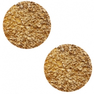 12 mm flach Polaris Elements Cabochon Goldstein Camel brown
