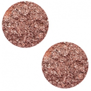 12 mm flach Polaris Elements Cabochon Goldstein Terracotta rose