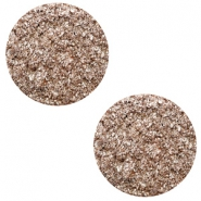 12 mm flach Polaris Elements Cabochon Goldstein Taupe brown