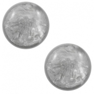 12 mm classic Polaris Elements Cabochon Lively Light grey