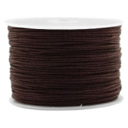 Band Macramé 1.0mm Chocolate brown