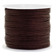 Band Macramé 0.8mm Burgundy brown