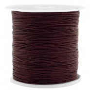 Band Macramé 0.5mm Chocolate brown