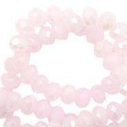 Facetten Top Glas Perlen 4x3mm Rondellen Light pink-pearl shine coating