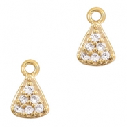 Strass Anhänger Metall Basic quality Triangle Gold
