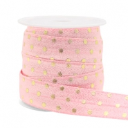 Band elastisch Punkte Light pink