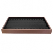 Schmuck Display 4-layer mit Haken Brown-black
