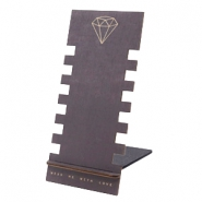 Schmuck Display Holz Diamant Black