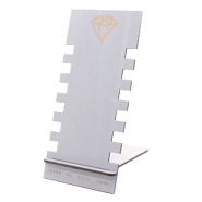 Schmuck Display Holz Diamant Grey