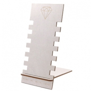 Schmuck Display Holz Diamant Silver