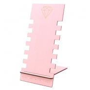 Schmuck Display Holz Diamant Pink