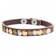 Armband mit Nieten Dark brown
