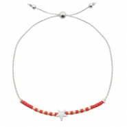 Armband mit Stern Red-silver