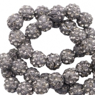 Perlen Strass 6 mm Anthracite