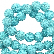 Perlen Strass 8 mm Turquoise blue