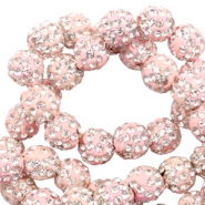 Perlen Strass 6 mm Light pink