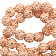 Perlen Strass 6 mm Peach