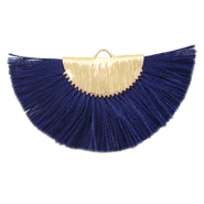 Quaste Perlen Anhänger Gold-dark midnight blue