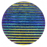 Cabochons Basic 35mm Stripe Cobalt blue holographic