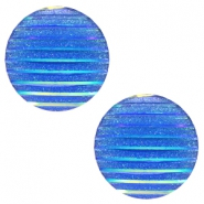 Cabochons Basic 20mm Stripe Capri blue holographic