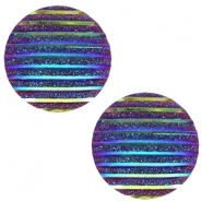 Cabochons Basic 20mm Stripe Cobalt blue holographic