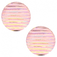 Cabochons Basic 20mm Stripe Vintage pink holographic