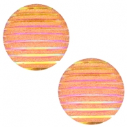 Cabochons Basic 12mm Stripe Orange yellow holographic