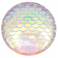 Cabochons Basic 35mm Mermaid Silver crystal holographic