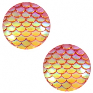 Cabochons Basic 20mm Mermaid Orange yellow holographic