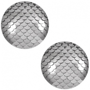 Cabochons Basic 12mm Mermaid Metallic silver
