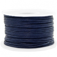 Kordel aus Wachs 1.5mm Dark blue